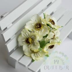 Silk Poppy Flower - LEMON