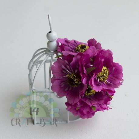 Silk Poppy Flower - FUCHSIA