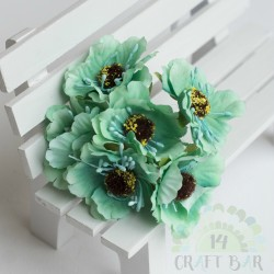 Silk Poppy Flower - MINT