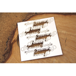 Chipboard - Polish text -Wiara w siebie to...