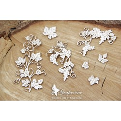 Chipboard - Grapes/4pcs