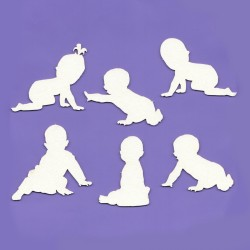 Chipboard - Set of children's silhouettes