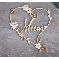 Chipboard - Mum in heart