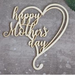 Chipboard - happy Mother's Day in heart