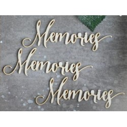 Chipboard - text:Memories /3pcs