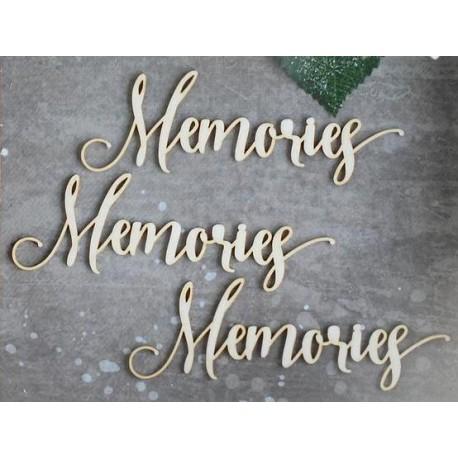 Chipboard - text:Memories /3pcs