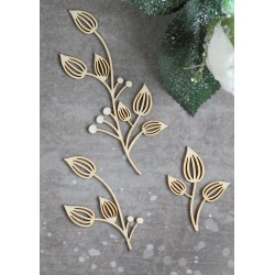 Chipboard- Floral Decor