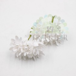 Pearl chrysanthemum  / 6pcs / WHITE