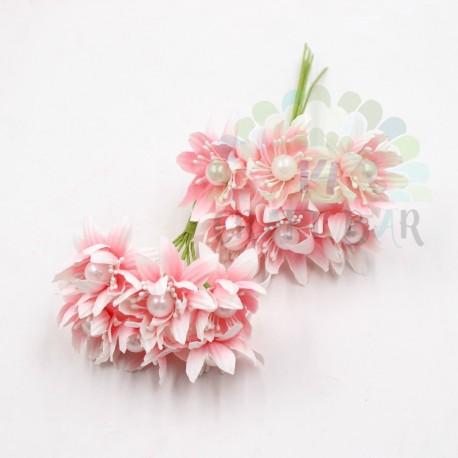 Pearl chrysanthemum  / 6pcs /PINK