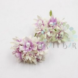 Pearl chrysanthemum  / 6pcs /LILAC