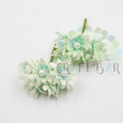 Pearl chrysanthemum  / 6pcs /MINT