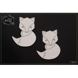 Chipboard - Fox / 2pcs