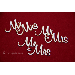 Chipboard - Mr&Mrs / 3pcs