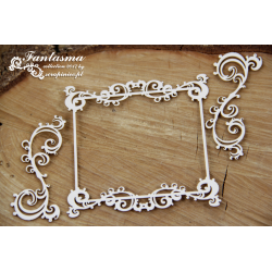Chipboard -Fantasma Square Frame and 2 decors