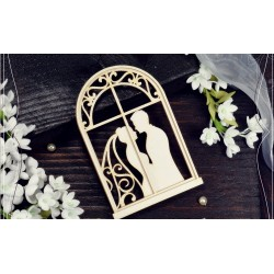 Chipboard -Window with young couple