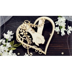 Chipboard - Layered Heart frame /forever