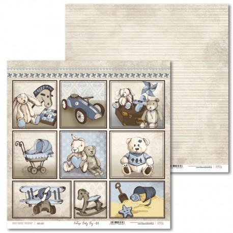 Stamperia vintage style new baby scrapbooking papers Baby Boy scrapbook paper set