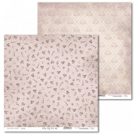 Scrapbooking Papers - Vintage Baby Girl