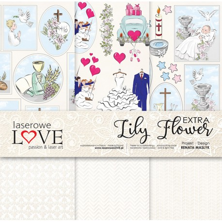 Scrapbooking Papers - Extra Lily Flower (12x12)