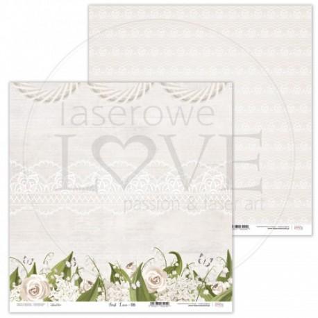 Scrapbooking Paper- 12x12 Sheet - First Love 06