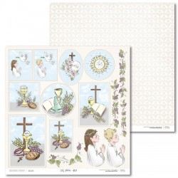 Scrapbooking Paper- 12x12 Sheet - First Communion