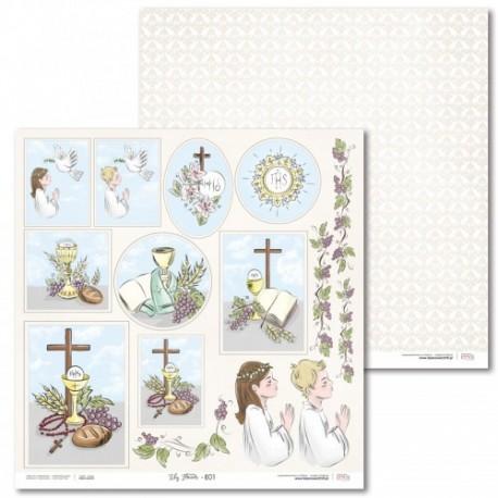 Scrapbooking Paper- 12x12 Sheet - First Communion