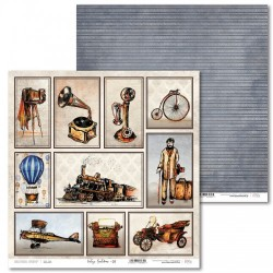 Scrapbooking Paper- 12x12 Sheet - Vintage Gentelman