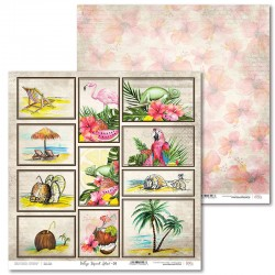Scrapbooking Paper- 12x12 Sheet - Tropical Island 01