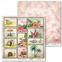 Scrapbooking Paper- 12x12 Sheet - Tropical Island 01