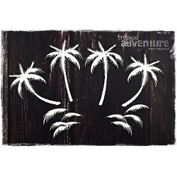 Chipboard- Background Palm Trees