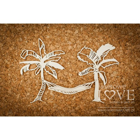 Chipboard- Palm trees with a hammock