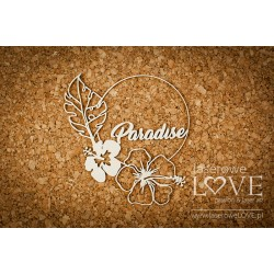 "Chipboard- Frame ""Paradise"""