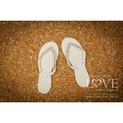Chipboard- Tropical flip flops
