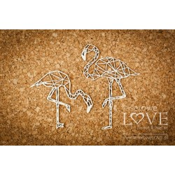 Chipboard- The Flamingos/2pcs