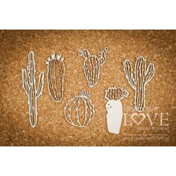Chipboard- Cactuses/6pcs