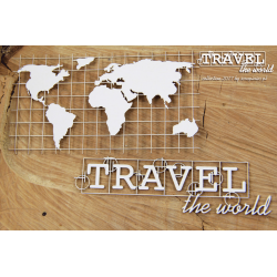 Chipboard - Travel the world/Map of continents