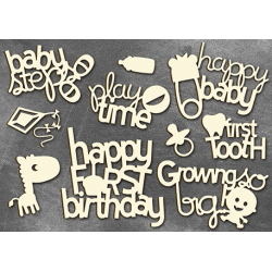 Chipboard -Baby Inscriptions