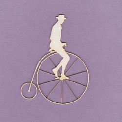 Chipboard - Retro Bicycle with a man