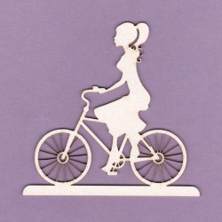 Chipboard - Lady on a bicycle