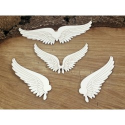 Chipboard - Steampunk -set of wings /4pcs