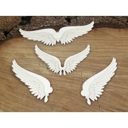 Chipboard - Steampunk -set of wings /4pcs