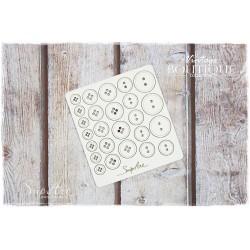 Chipboard - Vintage Boutique /Button Set