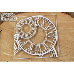Chipboard - Bacground Wonderland Clocks/Big