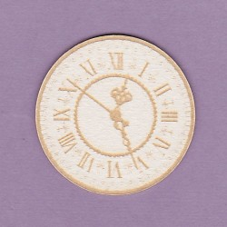 Chipboard - Engraved Clock (Alice)