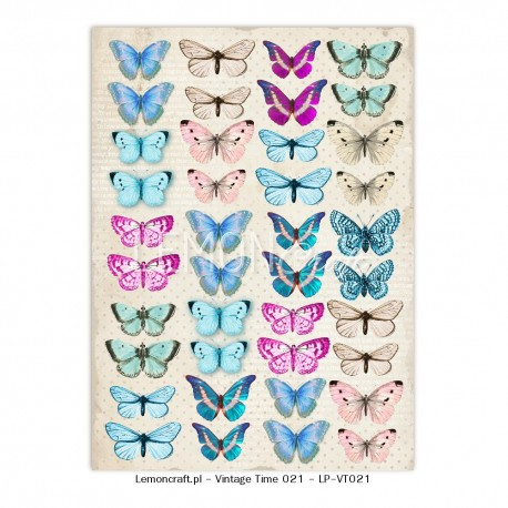 Scrapbooking Paper-  A4 Sheet   Butterflies 021