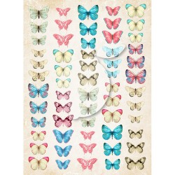 Scrapbooking Paper-  A4 Sheet   Butterflies 040