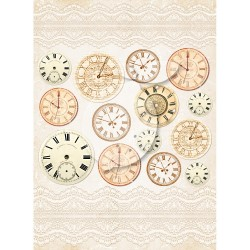 Scrapbooking Paper-  A4 Sheet   Vintage Time 035