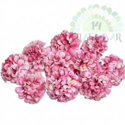 Silk  Zinnia / 5pcs