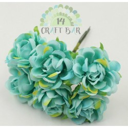 Silk Rose 3 cm / 6 pcs /MINT
