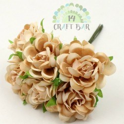 Silk Rose 3 cm / 6 pcs / BEIGE